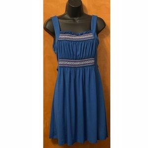Candie's Blue Casual Dress W/Stitching Detail